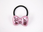Futuristic Metallic Bow - 70s Baby Girl & Toddler Hair Band / Ponytail Holder - Pink, Gold, Silver & Blue