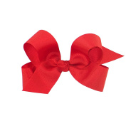 Wee Ones® Large Classic Grosgrain Hair Bow on Pinch Clip w/Knot Wrap Centre - Black