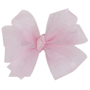 Wee Ones® Tiny Classic Organza Double Hair Bow - Ecru