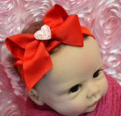 Funny Girl Sequin Heart Baby Bow Headband