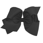 Wee Ones® King Classic Grosgrain Hair Bow on French Clip w/Plain Wrap Centre - Antique White