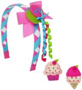 Mud Pie Baby-Girls Newborn Birthday Snap Headband Set