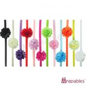 Kella Milla Set of 12 Assorted Mini Satin Mesh Flower Headbands