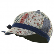 Contrasting Lining Newsboy Cap - Blue W20S24D