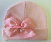 10cm Pinwheel Bow Cotton Baby Hat