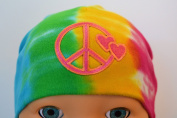Tie Dye Peace Sign Cotton Baby Hat