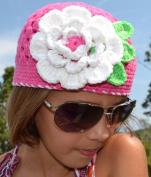 Megan Crochet Flower Hat