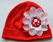Puffy Ladybug Cotton Baby Hat
