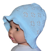 Crochet Summer Sun Hat, Size 3-12 M, Colour