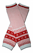 """FAIR ISLE RED - Baby Leggings/Leggies/Leg Warmers for Cloth Nappies - Little Girls & Boys & ONE SIZE by """"BubuBibi"""""""