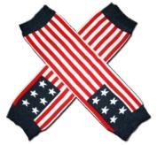 "AMERICAN FLAG Baby Leggings/Leggies/Leg Warmers for Cloth Nappies - GIRLS OR BOYS & ONE SIZE by ""BubuBibi"