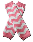 "CHEVRON Pink & White Zig Zag Baby Sweet Leggings/Leggies/Leg Warmers for Cloth Nappies - Little Girls & ONE SIZE by ""BubuBibi"""