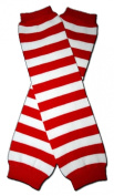 "MEDIUM RED & WHITE STRIPES - Baby Leggings/Leggies/Leg Warmers for Cloth Nappies - Little Girls & Boys & ONE SIZE by ""BubuBibi"""