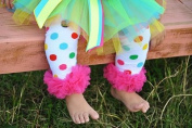 Ruffled Rainbow Polka Dot Legwarmers (Large) - Fits 4-12 Years