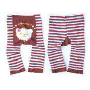 Wrapables Baby & Toddler Leggings, Pretty Flower Bear - 6 to 12 Months