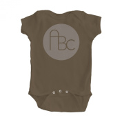 Girl's Brown One Piece Bodysuit with ABC Design
