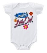 Kiditude Daddy's Little Girl Baby Bodysuit Romper, White
