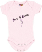 """Born to Babble"" Pink Bodysuit/Onesie"