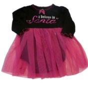 Baby Glam Infant Girls Onesie Christmas Creeper Black Pink Tulle Skirt Dress