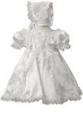 KID Collection Baby-girls White Flower Girl Christening Dress Sizes S to Xl