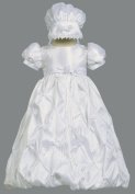 Taffeta Christening Gown with Matching Bonnet