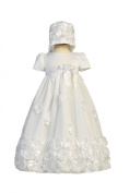 Floral Ribbon Tulle Christening Baptism Special Occasion Newborn Dress