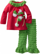 Rare Editions Baby-Girls Newborn Knit Eyelash Leg Set