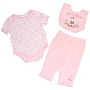 Petite Bears Girls 0/3-6/9 Months Zebra Onesie Set