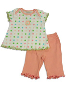 Cloud Mine - Newborn Girls Short Sleeve Polka Dot Pant Set