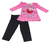 Sesame Street Baby-Girls Infant Peace Love Elmo Legging Set