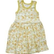 Organic Baby Dress - Tropical Flower 24 Months Yellow Baby Dress