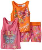 Young Hearts Baby-girls Infant 3 Piece Girl Power Short Set