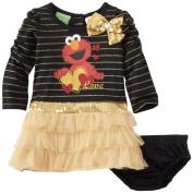 Sesame Street Baby-girls Infant 2 Piece Elmo Love Dress Set