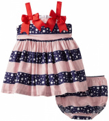 Bonnie Baby Girls Infant Stars And Stripes Sundress