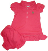 Infant Girl's Ralph Lauren Polo 2 Piece Dress Coral Pink
