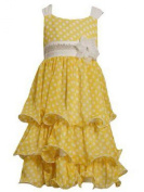 Bonnie Jean - Yellow Chiffon Dot Dress