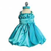 Baby Turquoise Special Occasion Dress with Headband