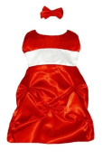 Baby Christmas Dress Holiday Red Satin
