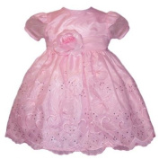 Toddler Special Occasion Dress - Pink Organza w/ Rhinestuds