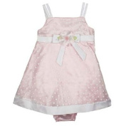 Pink Satin Baby Dress Special Occasion A-line Dress and Bloomers