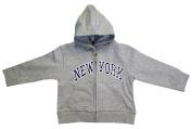 New York City Infant Baby Zippered Hoodie Sweatshirt Grey