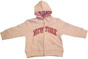 New York City Infant Baby Zippered Hoodie Sweatshirt Light Pink