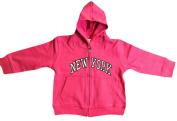 New York City Infant Baby Zippered Hoodie Sweatshirt Hot Pink