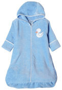 Spasilk 100% Cotton Terry / Velour Hooded Bath Bag with Zipper Front, 0-9 Months