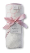 SwaddleDesigns Organic Cotton Hooded Towel - Pastel Pink Mod Circles on Ivory