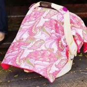 Carseat Canopy Baby Infant Car Seat Cover w/Attachment Straps and Minky Fabric