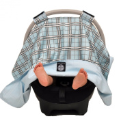 Balboa Baby Car Seat Canopy, Blue Plaid