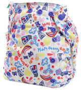 Bummis Tots Bots Easy Fit Cloth Nappy - Nature Girl Snap