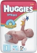 Huggies Snug & Dry Nappy, Size 1