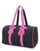Large Quilted Solid 53cm Duffle Bag *Black/fuchsia